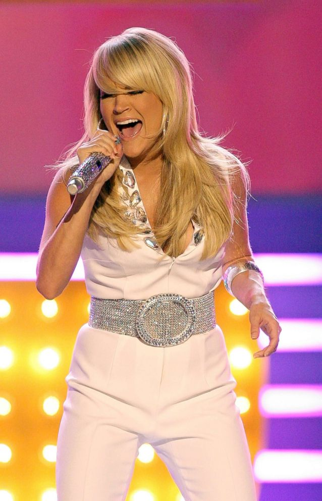 PHOTO: Carrie Underwood performs onstage during the 43rd annual Academy Of Country Music Awards held at the MGM Grand Garden Arena, May 18, 2008, in Las Vegas.