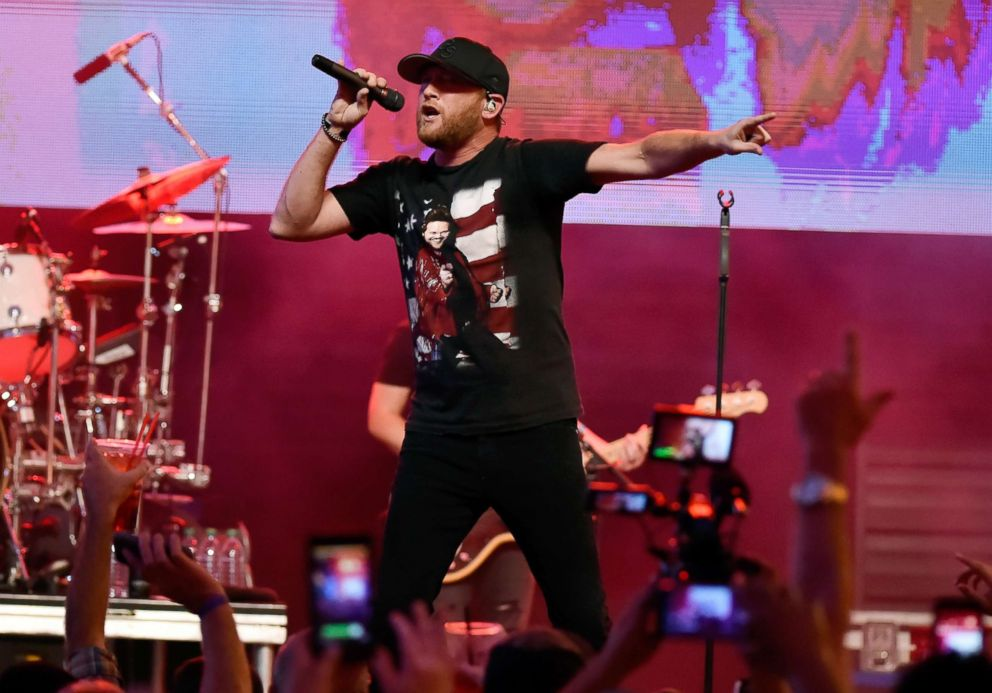 PHOTO: Cole Swindell performs, Sept. 15, 2018, in Las Vegas.