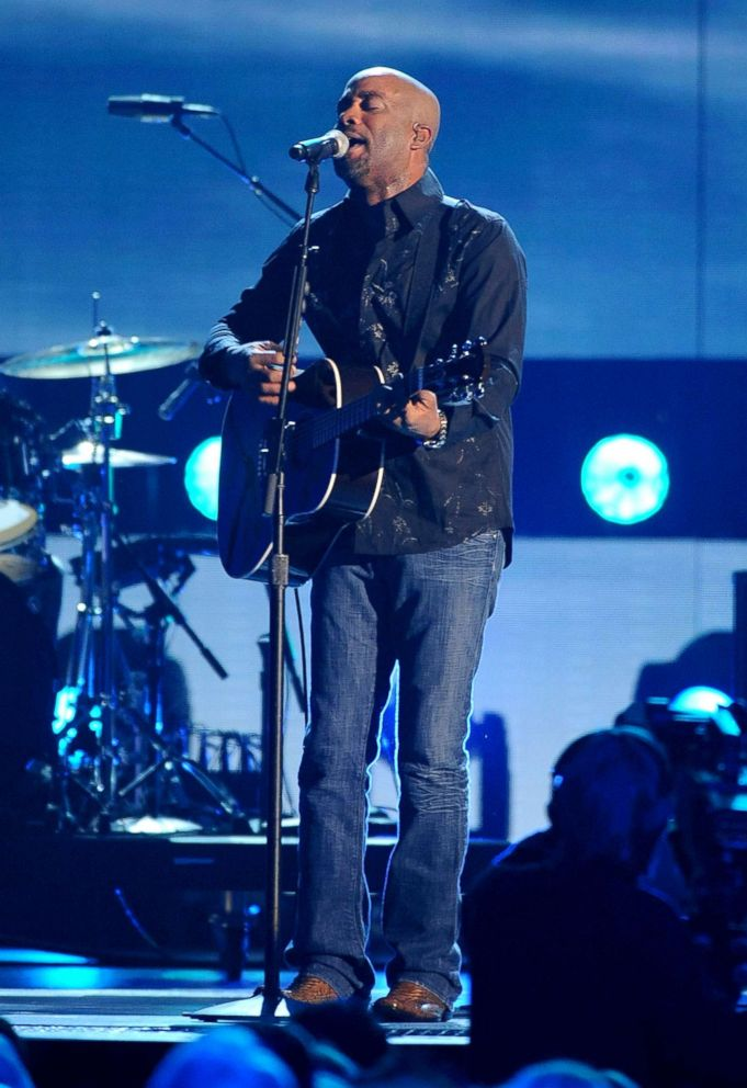 PHOTO: Musician Darius Rucker performs during the 42nd Annual CMA Awards at the Sommet Center, Nov. 12, 2008, in Nashville.