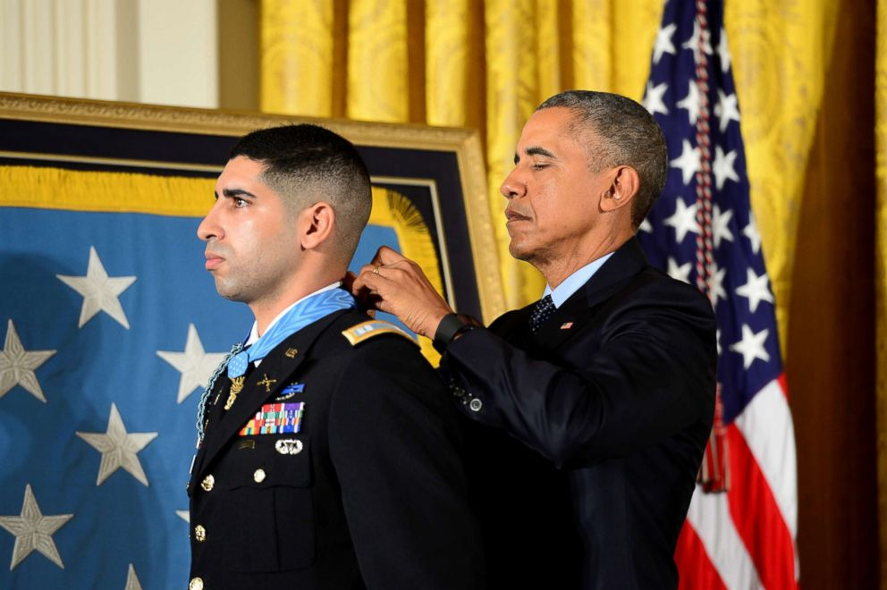 President Barack Obama hosts the Medal of Honor Ceremony for retired U.S. Army Capt. Florent Groberg at the White House in Washington D.C., Nov. 12, 2015.