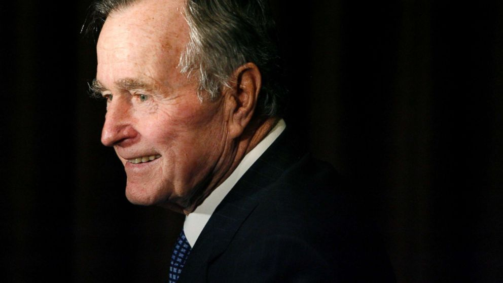 Former President George H.W. Bush arrives at the 2007 Ronald Reagan Freedom Award gala dinner held in his honor in Beverly Hills, Calif., Feb. 6, 2007.