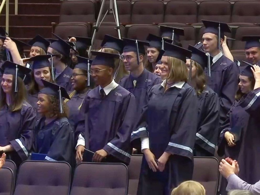 PHOTO: Students attend a graduation ceremony for the North Carolina Virtual Academy on June 12, 2019.
