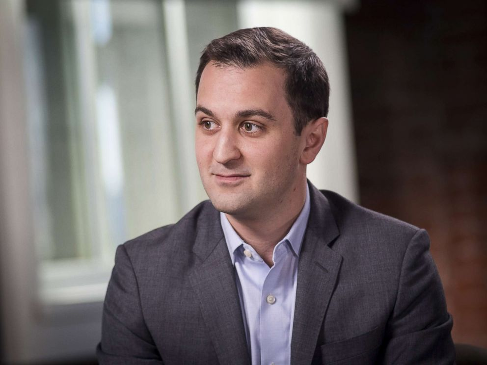 PHOTO: John Zimmer, co-founder and president of Lyft Inc., listens during a Bloomberg Studio 1.0 television interview in San Francisco, Calif. in this Feb. 27, 2018 file photo.