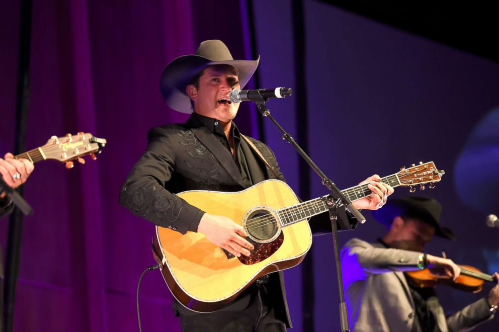 PHOTO: Jon Pardi performs during the 2018 Nashville Songwriters Hall Of Fame gala at Music City Center, Oct. 28, 2018, in Nashville.