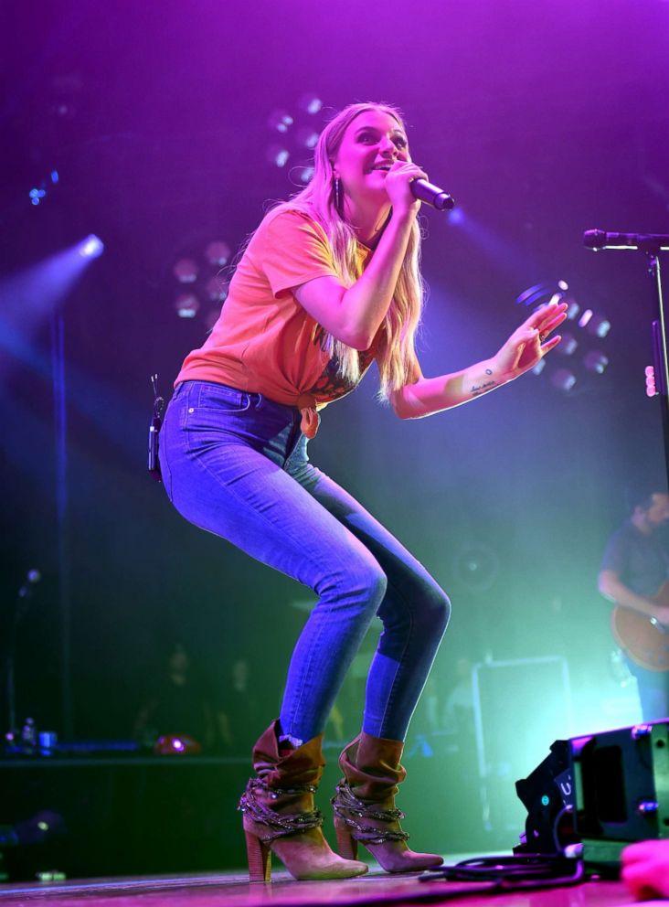 PHOTO: Kelsea Ballerini performs at the Ryman Auditorium, Sept. 18, 2018, in Nashville.