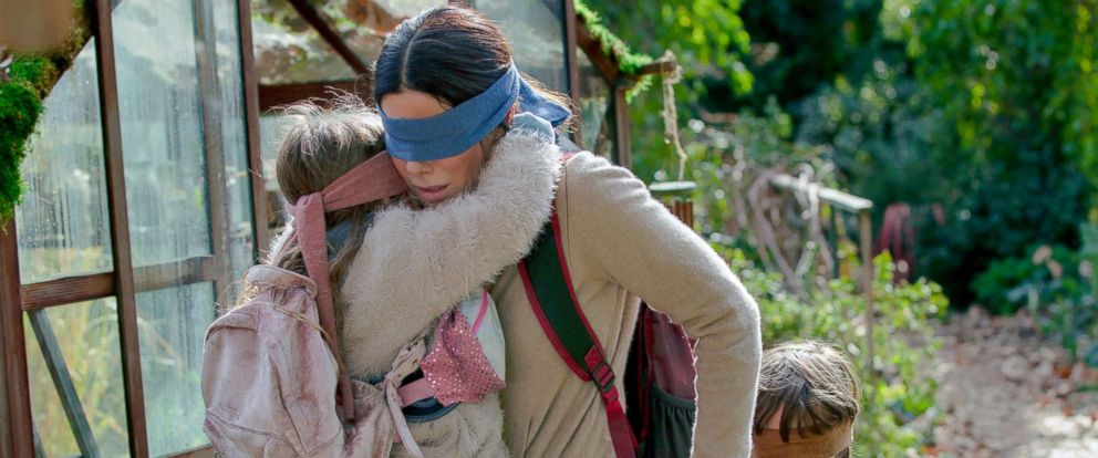 "PHOTO: Sandra Bullock in a scene from ""Bird Box."""