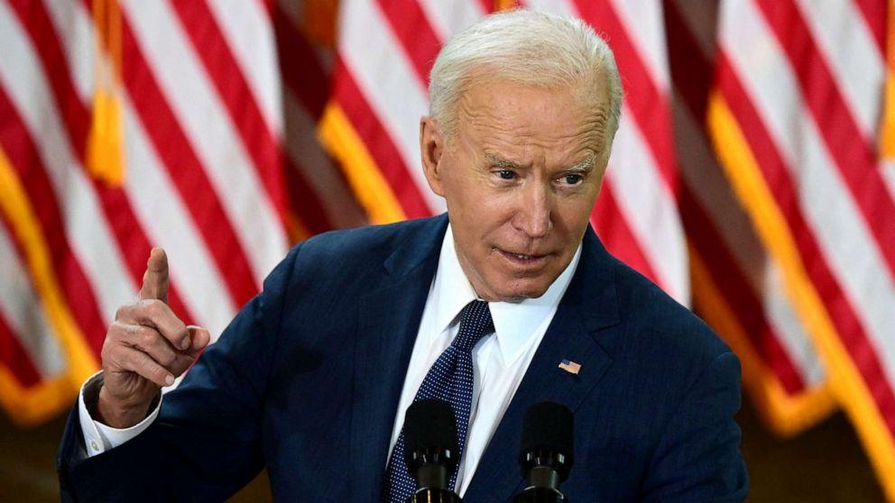 PHOTO: President Joe Biden speaks in Pittsburgh, March 31, 2021.