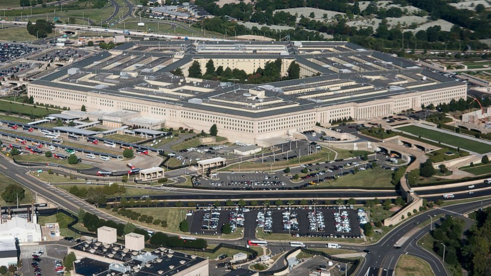 PHOTO: The Pentagon building stands in Washington, Aug. 29, 2020.