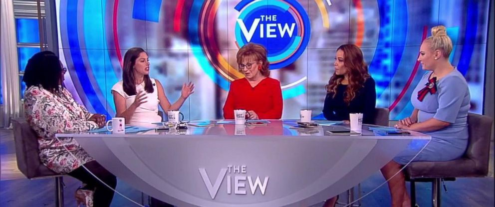 "PHOTO: ""The View"" co-hosts react to the new app Donald Daters on Oct. 17, 2018."