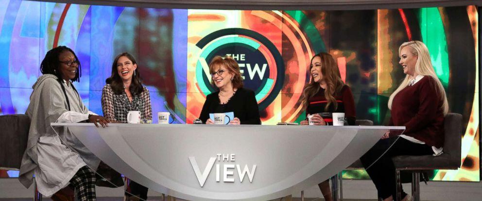 PHOTO: The View co-hosts, from left, Whoopi Goldberg, Abby Huntsman, Joy Behar, Sunny Hostin and Meghan McCain.
