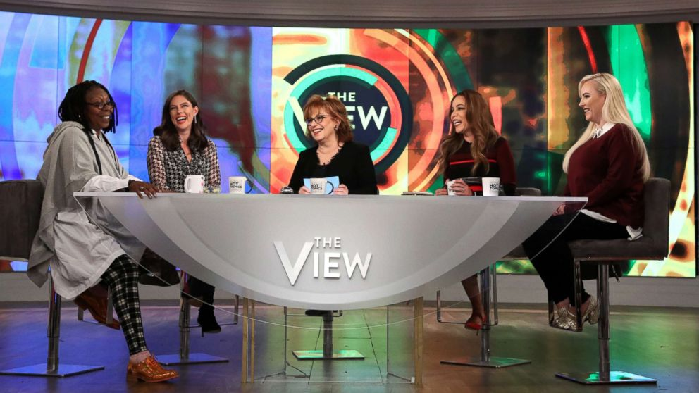 The View co-hosts, from left, Whoopi Goldberg, Abby Huntsman, Joy Behar, Sunny Hostin and Meghan McCain.
