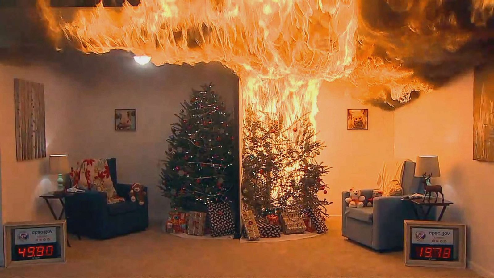 Holiday Nightmare How To Avoid Deadly Christmas Tree Fires Abc News