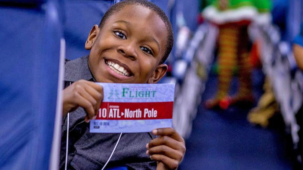 VIDEO: Kids Battling Cancer Board Flight to the North Pole