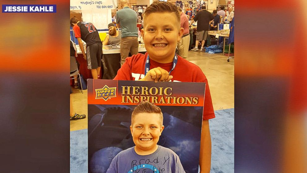 10 Year Old Sells Baseball Cards To Raise Money For Friends