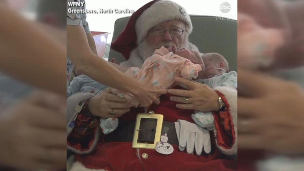 WATCH: Santa brings Christmas cheer to NICU