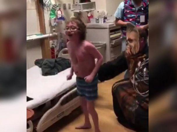 WATCH:  Chewbacca tells boy he's getting new heart
