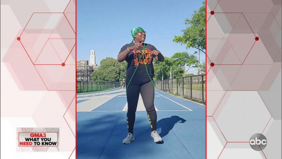 Jumping rope provides a full-body workout while social distancing