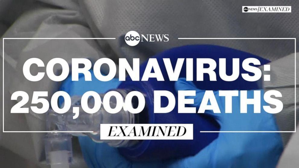 US crosses 250,000 coronavirus deaths