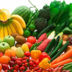 Various fruits and vegetables are pictured in an undated stock photo.
