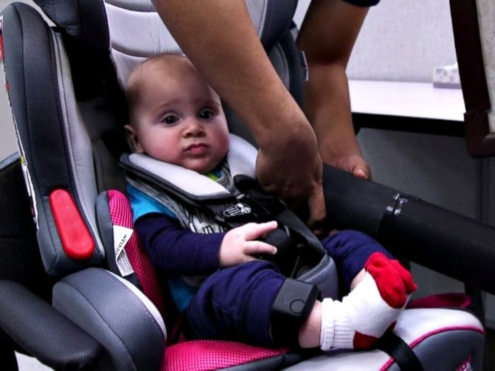 PHOTO: Infant Daniel Bailey participates in a trial demonstration for ABC News at Vanderbilt University in Nashville, Tennessee.