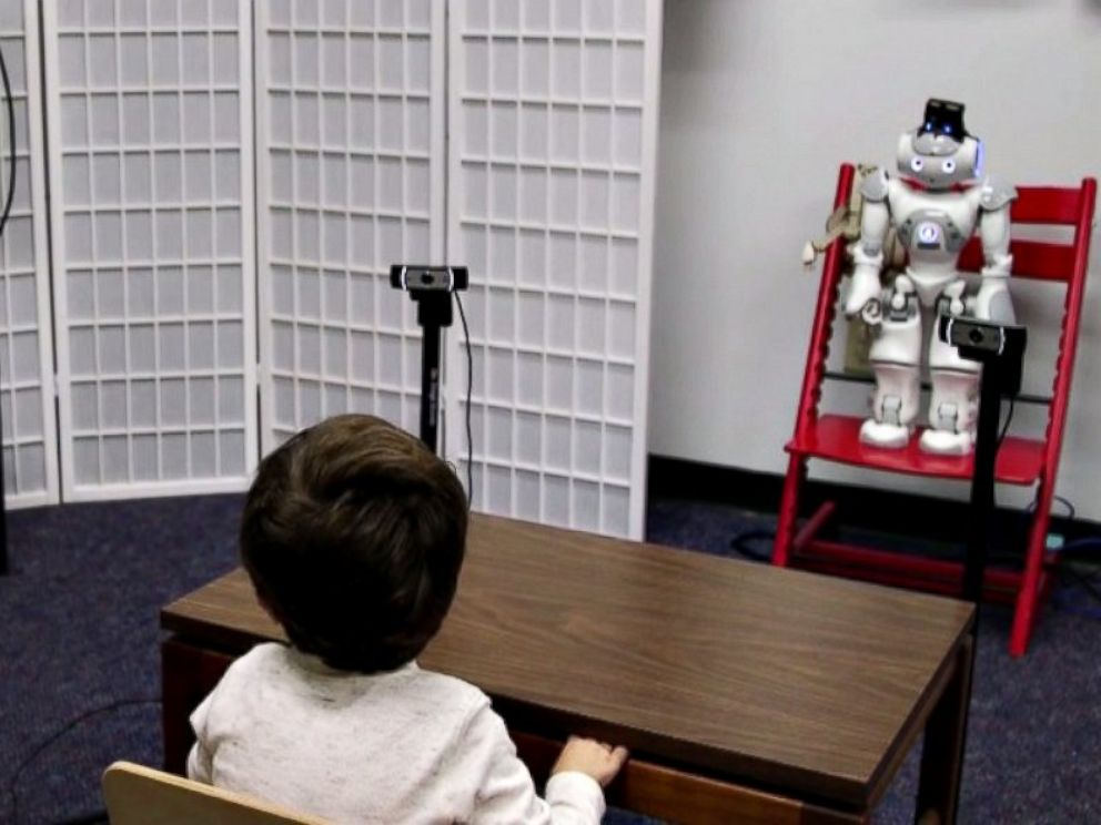 PHOTO: A little robot named RASL, better known as Russell, tries to train toddlers with Autism Spectrum Disorder (ASD) to pay attention.