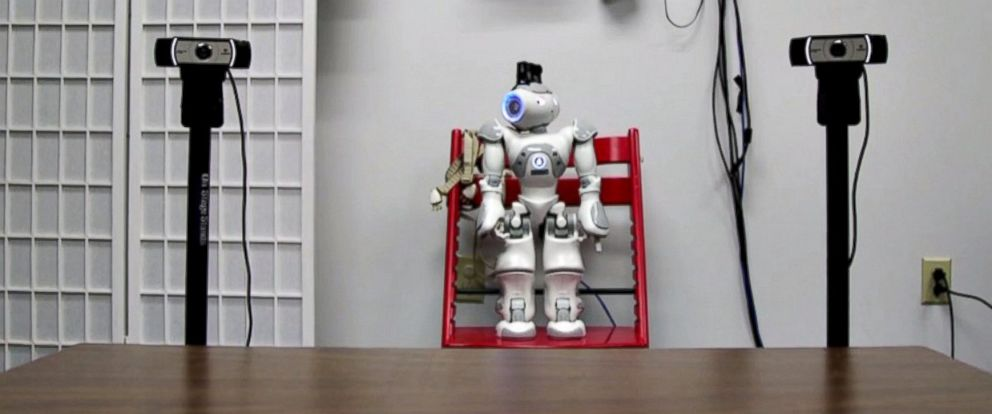 PHOTO: Robot RASL, better known as Russell, tries to train toddlers with Autism Spectrum Disorder (ASD) how to share a gaze.