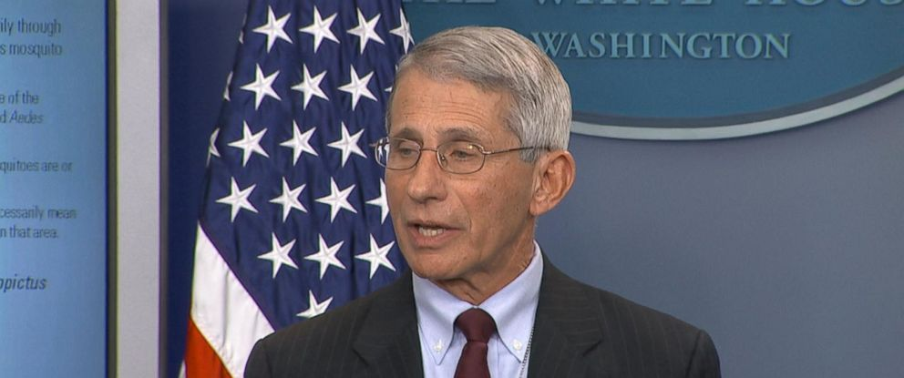 PHOTO: Dr. Anthony Fauci of the NIH at a news conference at The White House in Washington, April 11, 2016.
