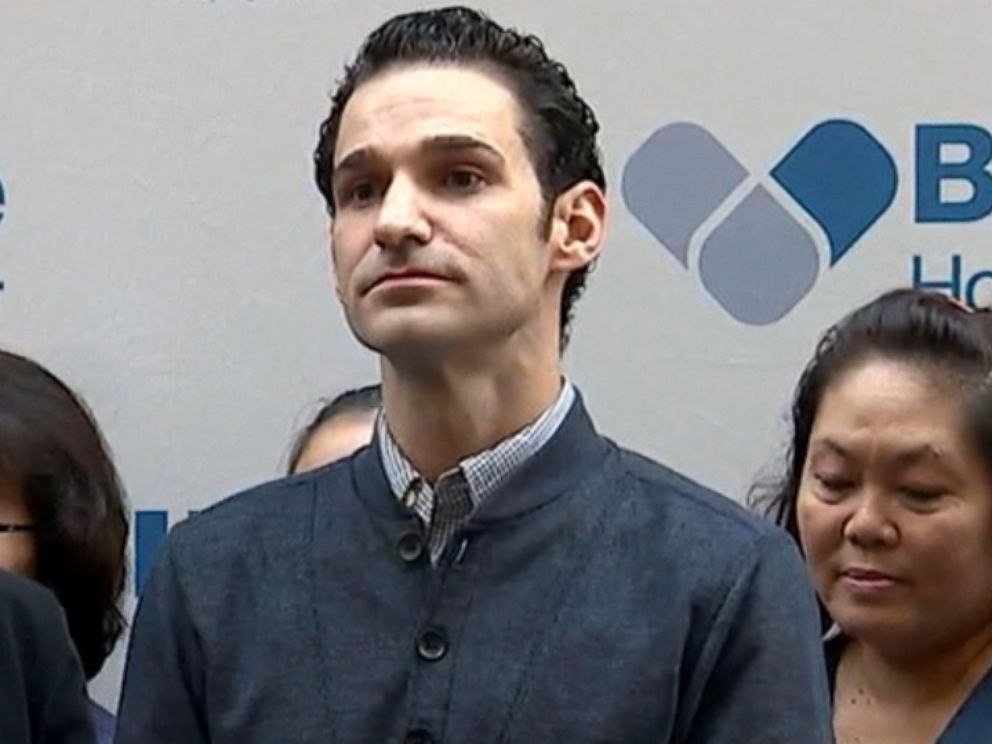 PHOTO: Dr. Craig Spencer is pictured being discharged from New York Citys Bellevue Hospital, free of Ebola, on Nov. 11, 2014.