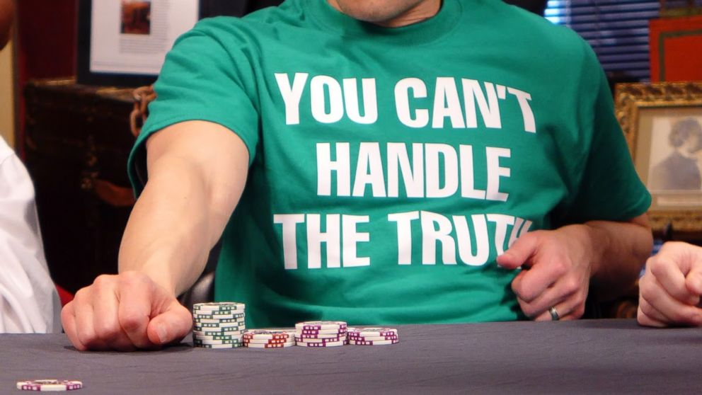 ABC News Medical Unit Managing Editor Dan Childs tried his hand at bluffing at the poker table during ABC HealthLab's Lie Day Friday festivities at the Houdini Museum of New York at Fantasma