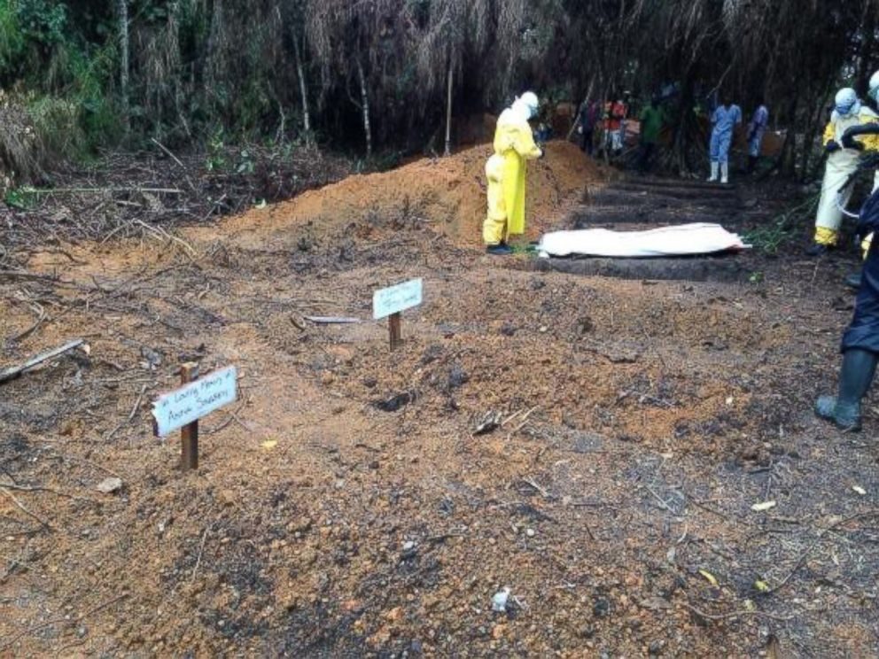 PHOTO: Dr. Richard Besser posted this photo to Twitter with the caption, Burying an #ebola victim. At the unit in Bong County theyve dug more graves than they have patients.