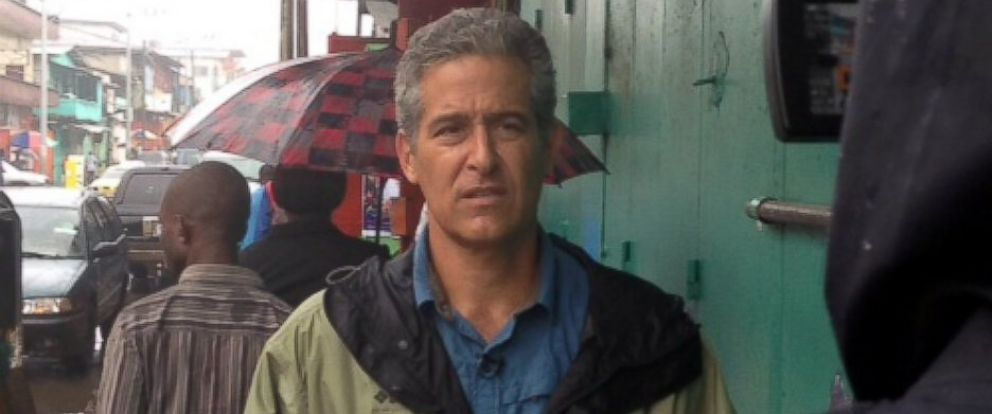 PHOTO: Dr. Richard Besser, ABC News' chief health and medical correspondent, reports live from Liberia.