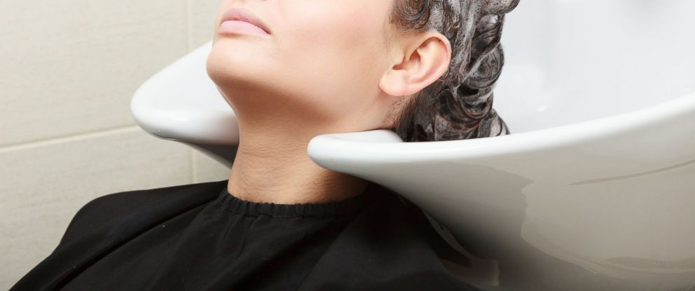 PHOTO: This undated stock photo shows a woman having her hair shampooed at a beauty salon.
