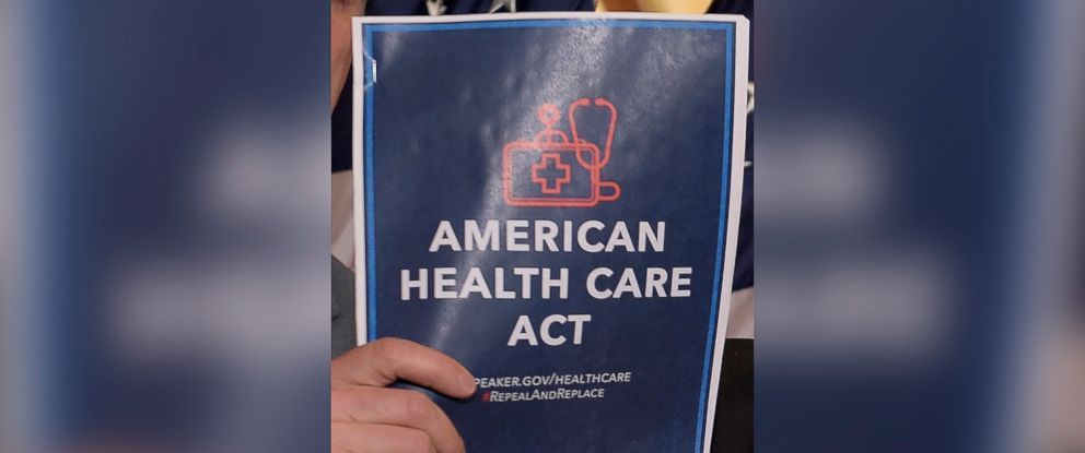 PHOTO: House Speaker Paul Ryan of Wis., hold his copy of the American Health Care Act, March 7, 2017