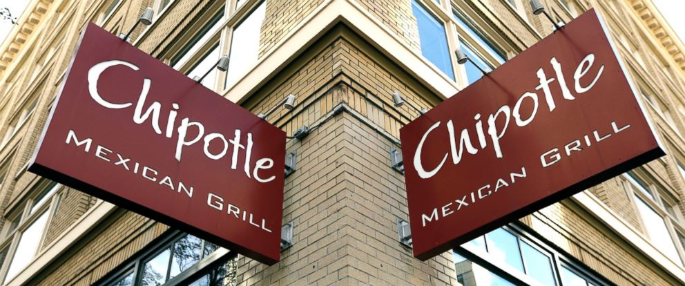 PHOTO: Signage hangs from a closed Chipotle restaurant in Portland, Ore., Nov. 2, 2015.