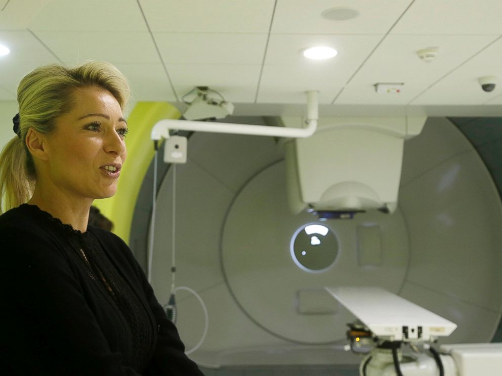 PHOTO: Iva Tatounova, director of strategy at the Proton Therapy Clinic answers questions in a proton therapy treatment room where 5-year-old Ashya King was treated in Prague, March 23, 2015.