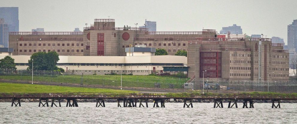 PHOTO: The Rikers Island jail complex is pictured on June 11, 2014 in New York City.