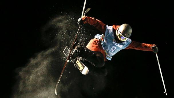 PHOTO: In this Dec. 19, 2013 file photo, Rowan Cheshire of Britain flies above the lip of the halfpipe during the World Cup U.S. Grand Prix freestyle skiing qualifications in Frisco, Colo.
