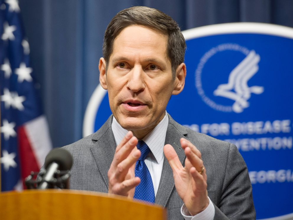 PHOTO: Dr. Tom Frieden, head of the Centers for Disease Control and Prevention, speaks at a news conference, Oct. 12, 2014, in Atlanta.