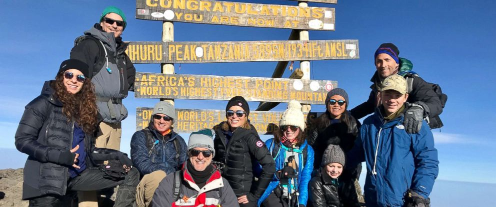 "PHOTO: Robach was joined by her closest friends and family journeying to the top of Mount Kilimanjaro on her fifth ""cancerversary."""