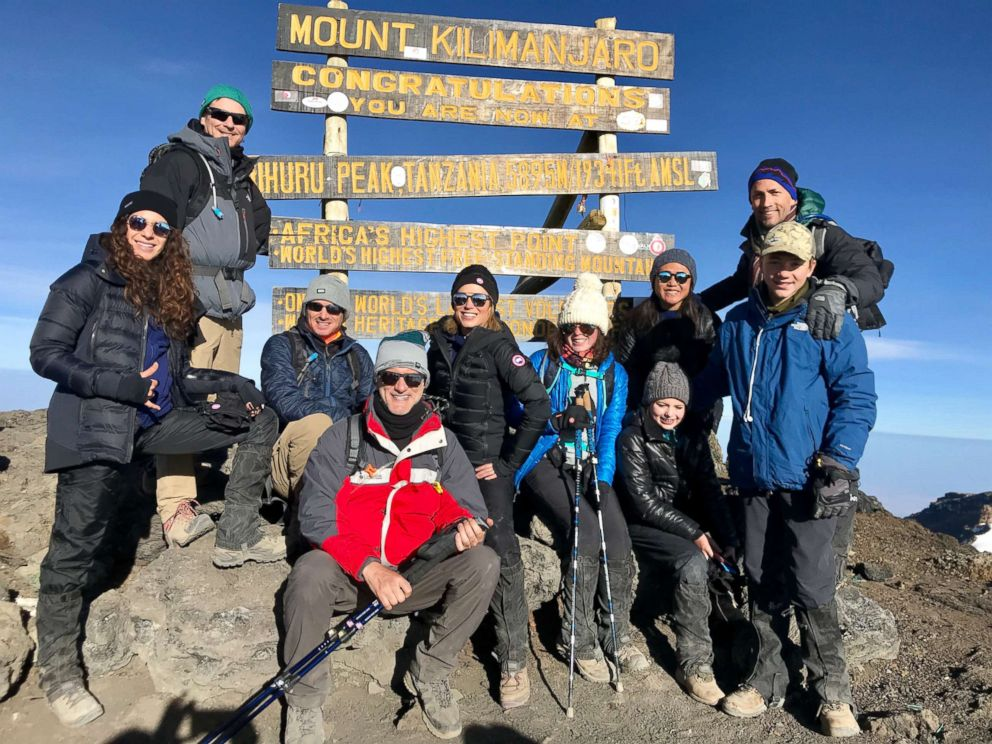 PHOTO: Robach was joined by her closest friends and family journeying to the top of Mount Kilimanjaro on her fifth cancerversary.