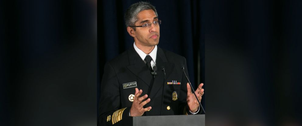 PHOTO: Surgeon General of the United States Dr. Vivek Murthy during a March 29, 2016 presentation in Atlanta, Ga.