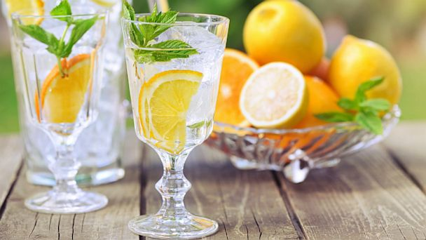 PHOTO: Try sliced cucumber or wedges of orange, lemon, or lime in your water to make it more flavorful.