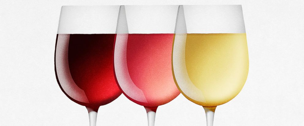 PHOTO: Wine in three glasses.