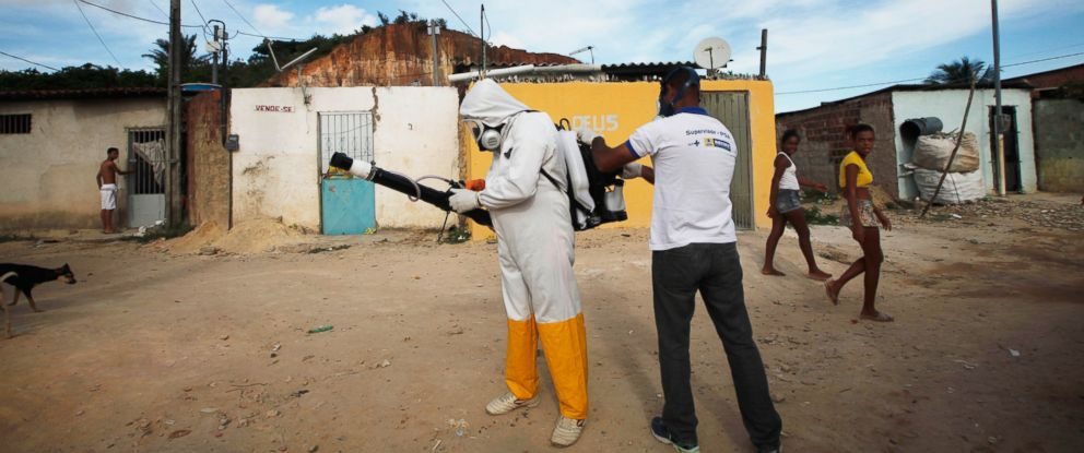 PHOTO: A city worker prepares to fumigate in an effort to eradicate the mosquito which transmits the Zika virus on Feb. 4, 2016 in Recife, Pernambuco state, Brazil.