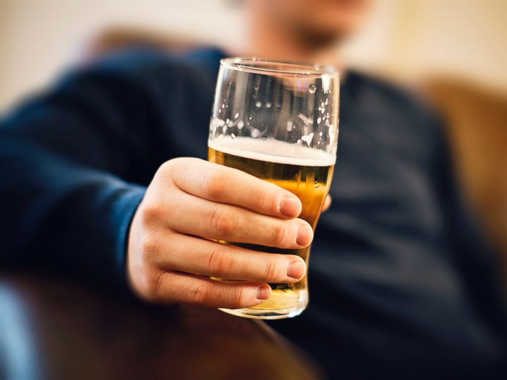 PHOTO: A man drinks a pint of beer in this undated stock photo.
