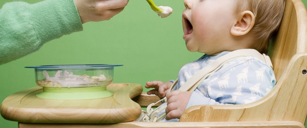 PHOTO: A baby is seen being fed in a highchair in this undated file photo.