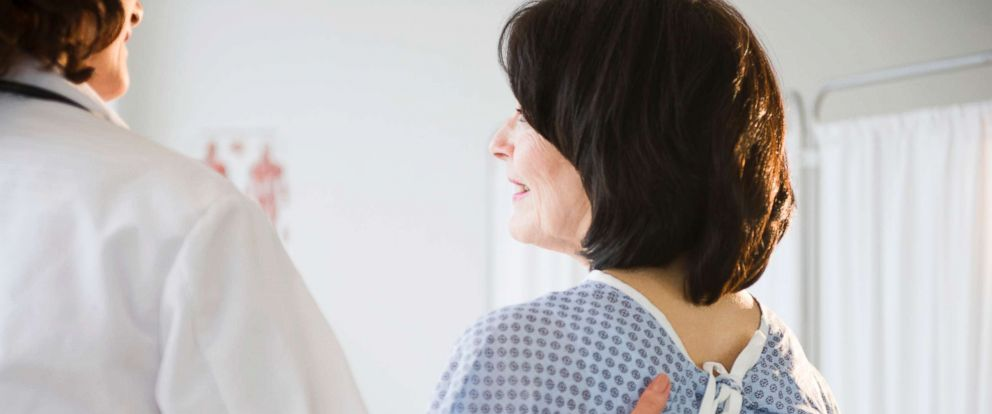PHOTO: A woman receives an examination from her doctor in this stock photo.