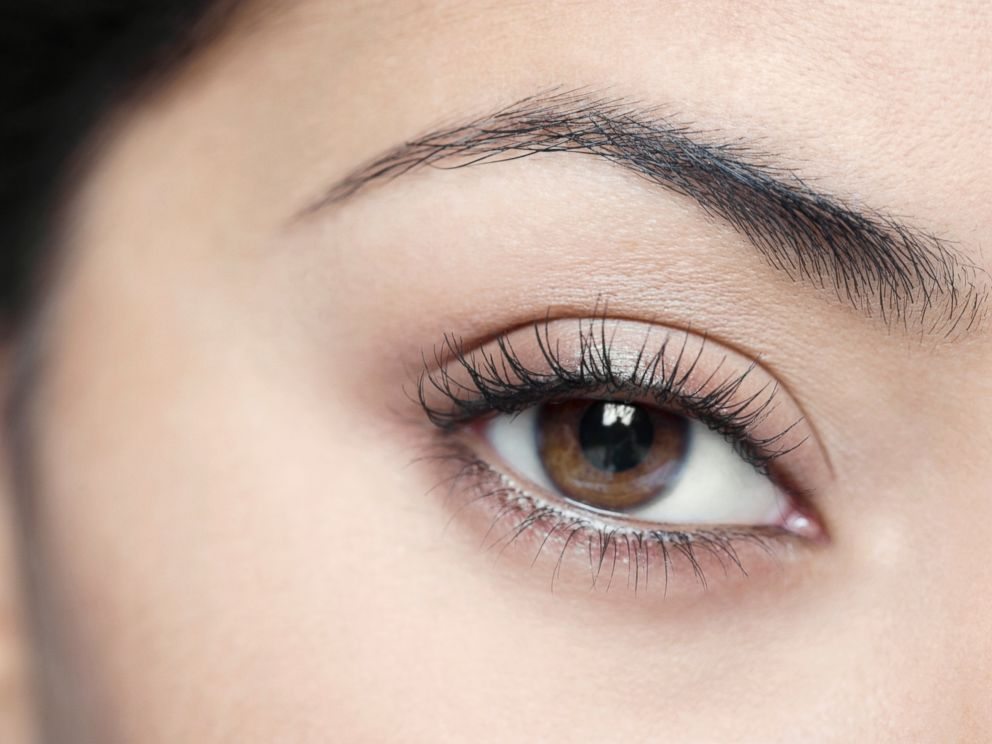 PHOTO: In this stock image, a closeup of a womans eyebrow is pictured.
