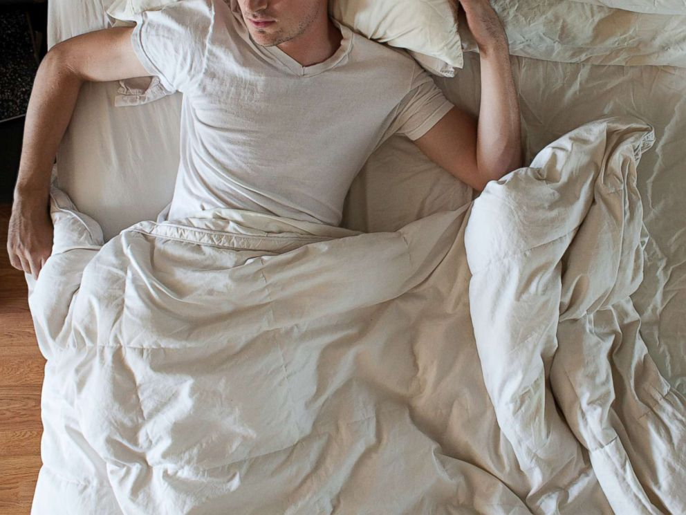 PHOTO: A man is pictured sleeping in this stock photo.
