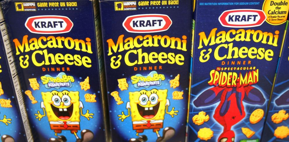 PHOTO: Boxes of Kraft Macaroni & Cheese sit on a shelf in a grocery store in Glenview, Ill., Jan. 19, 2010.